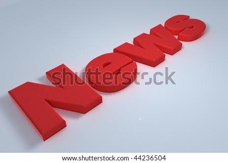 Red news letter lying on floor - stock photo