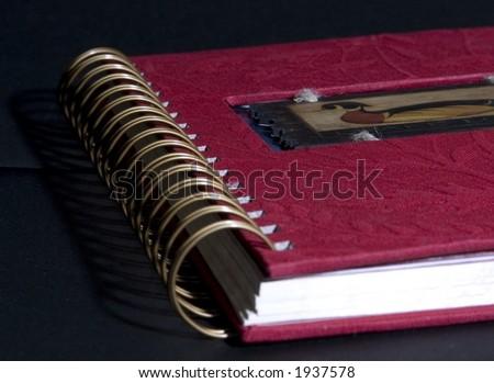 Red Note pad - stock photo