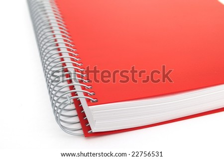 Red notebook - stock photo