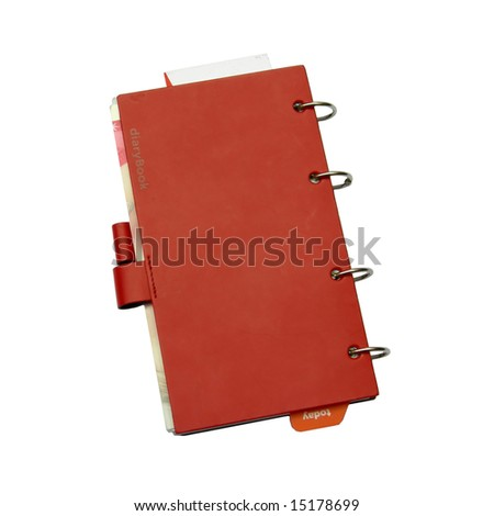 Red notebook closed