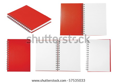 red notebook collection - stock photo