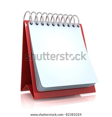 Red Office Calendar - stock photo