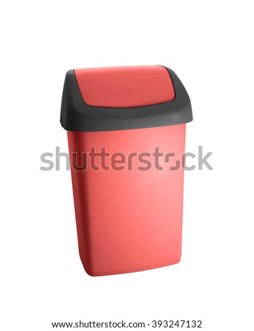 Red office trash - stock photo