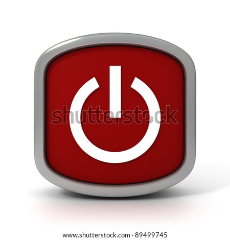 Red On/Off Sign on a White Background. Part of a series - stock photo