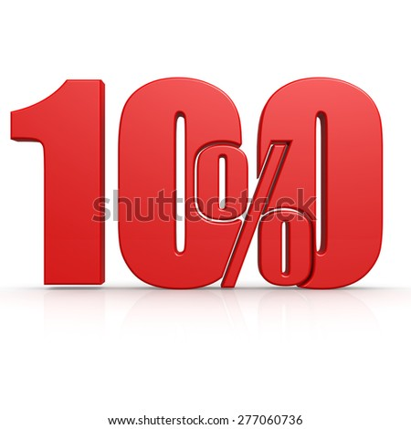 Red one hundred percent image with hi-res rendered artwork that could be used for any graphic design. - stock photo