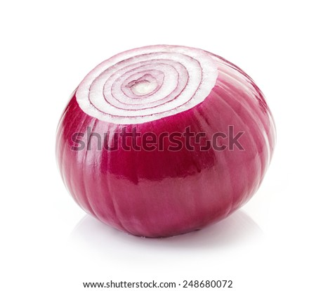 red onion isolated on a white background - stock photo