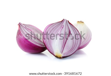 red onion isolated on the white background.