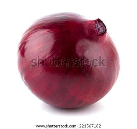 Red onion isolated on white background cutout - stock photo