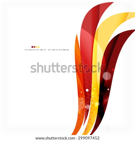 Red orange bright feather lines concept. Abstract background - stock photo