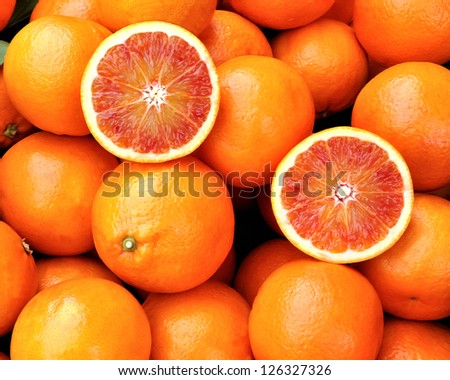 Red oranges of Sicily, Italy - stock photo