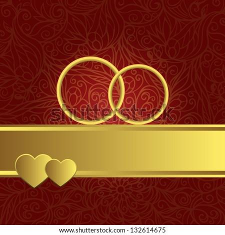 red ornamental wedding background gold wedding stock
