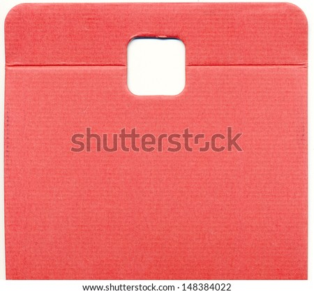 red packaging board  - stock photo