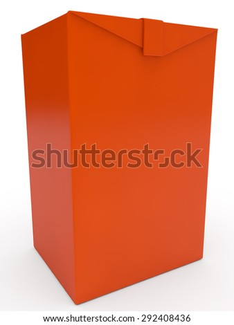 red packing for juice or milk - stock photo