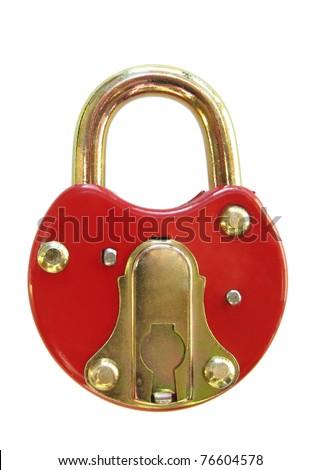 red padlock - stock photo