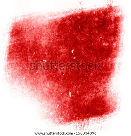 red paint background with some smooth lines in it - stock photo