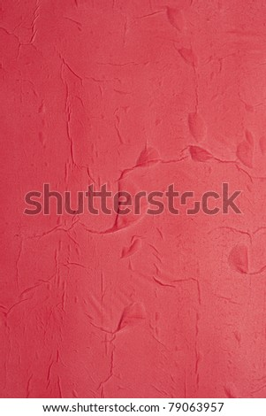 Red painted paper texture - stock photo