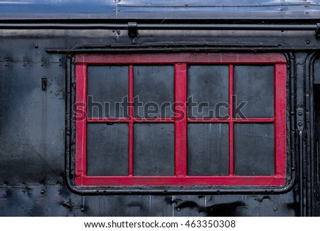 Red Painted Window Frame On Old Stock Photo & Image (Royalty-Free ...