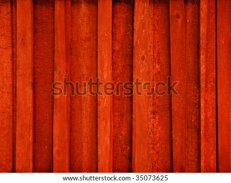 red painted wooden plank background - stock photo
