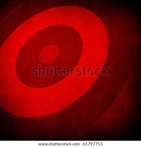 red painting background with round pattern