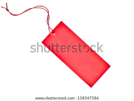 red paper tag - stock photo