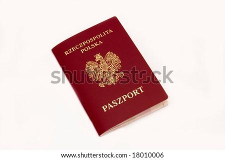 red passport - stock photo