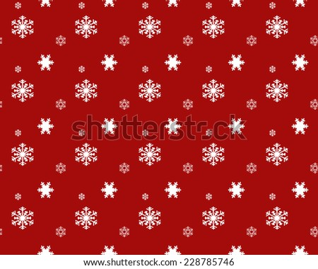 Red pattern  snowflakes. - stock photo