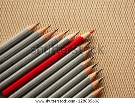 Red pencil - stock photo