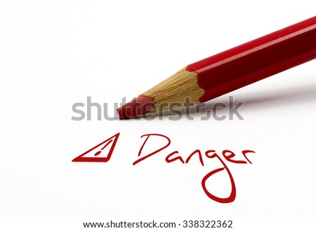 Red pencil -  - stock photo