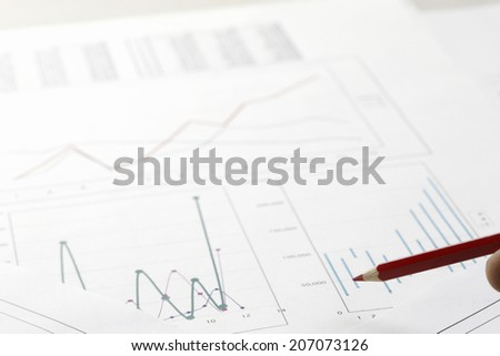 Red Pencil And Graph