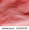 Red picnic cloth. More fabrics in my port. - stock photo