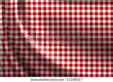 Red picnic texture with soft shades - stock photo