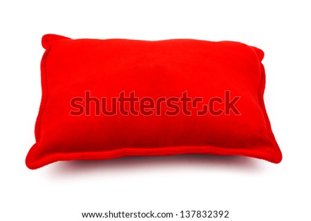 Red Pillow isolated