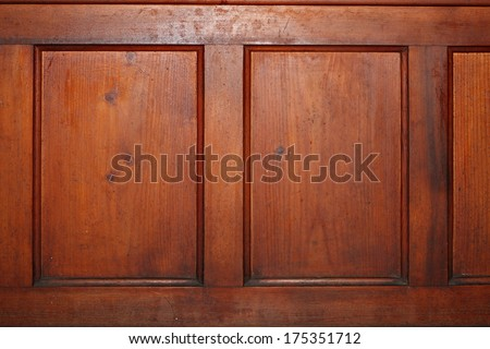 red pine wood texture on an old piece of furniture - stock photo
