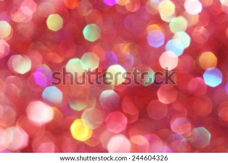 Red, pink, white, yellow and turquoise soft lights abstract background - dark colors - stock photo