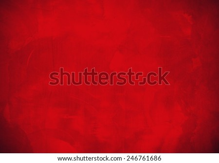 Red plaster wall surface - stock photo