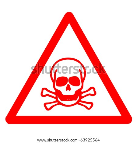 Red poison sign for indicated dangerous thing - stock photo