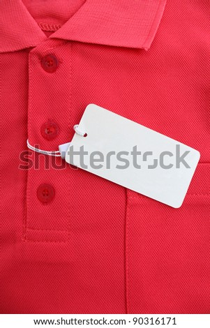 Red polo shirts, casual wear for men in general.