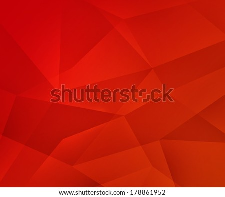 Red Polygons Texture - stock photo