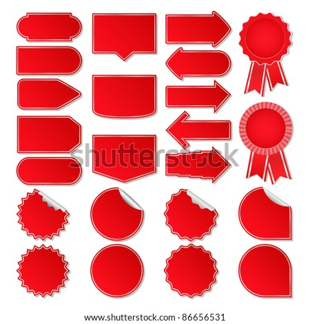 Red price tags - stock photo