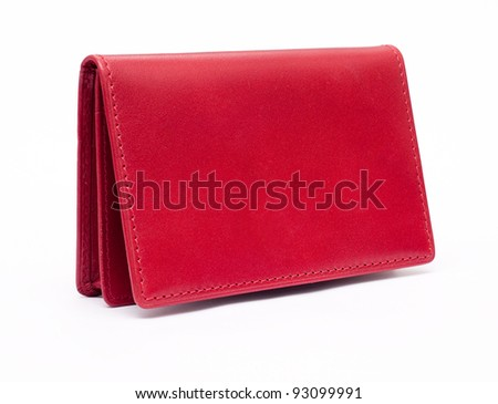 Red purse. Look through my portfolio to find more images of the same series - stock photo