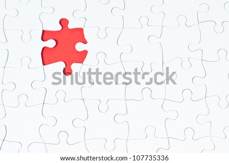 red puzzle - stock photo