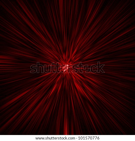 red rays background - stock photo