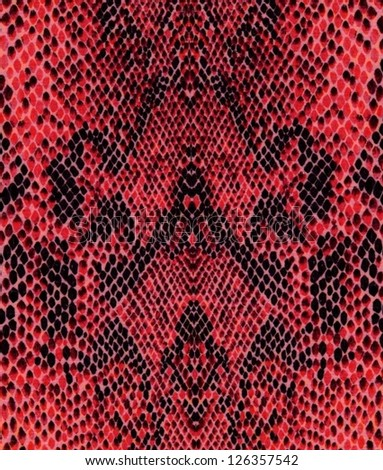Red reptile skin pattern - stock photo