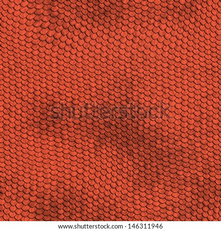 red reptile texture - seamless - stock photo