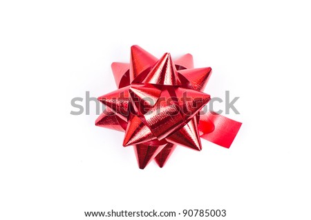 Red ribbon for christmas concept. - stock photo