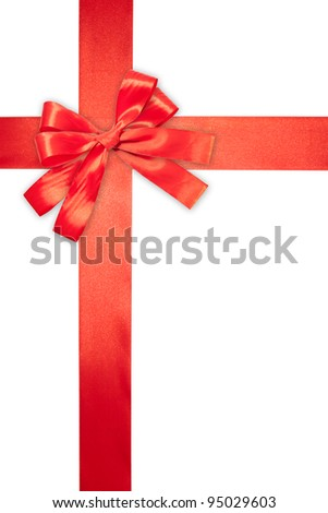 red ribbon isolated on a white background