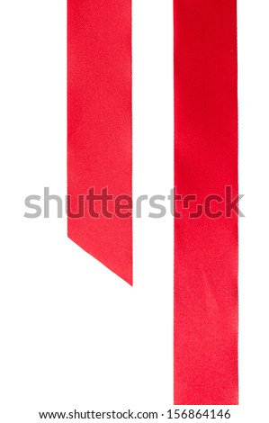 Red ribbon used to wrap gifts for festivals - stock photo