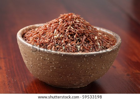 Red rice. Shallow dof - stock photo