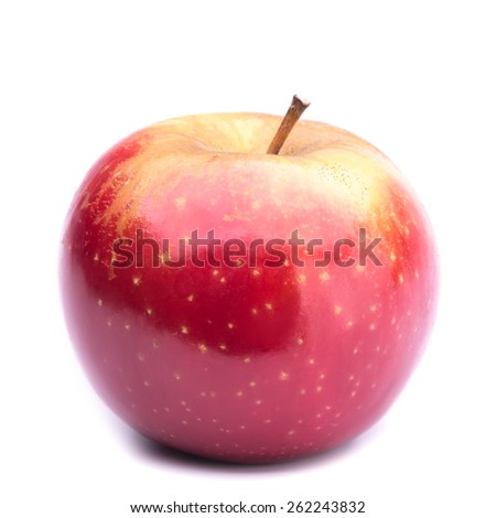 red ripe apple - stock photo