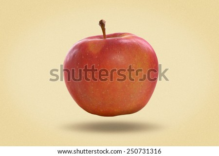 Red ripe apple. picture in retro style - stock photo